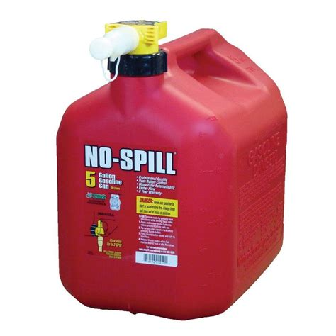 no spill no spill 5 gal poly gas can carb and epa