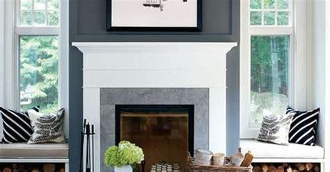 Like the bench seats on either side of fireplace with