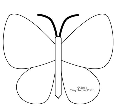 printable butterfly template coloring home