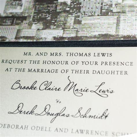 chicago custom wedding invitations chicago skyline wedding invitations chic shab design studio inc