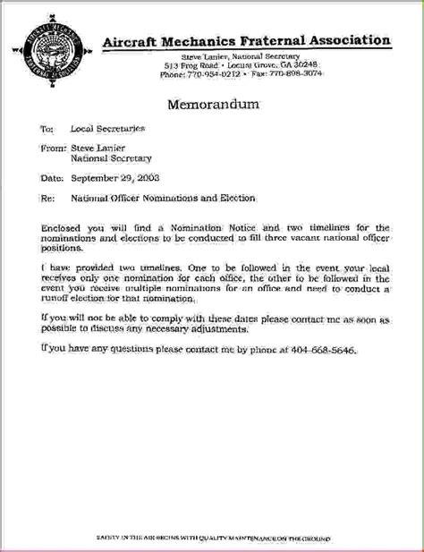 6 letter of memorandum resumed job