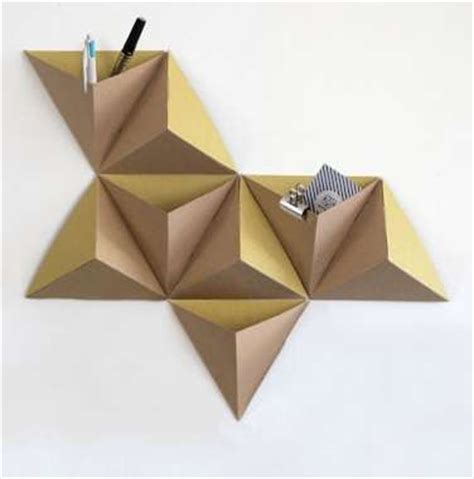 3d Geometric Origami - 18 creative diy wall decorations wall pockets origami