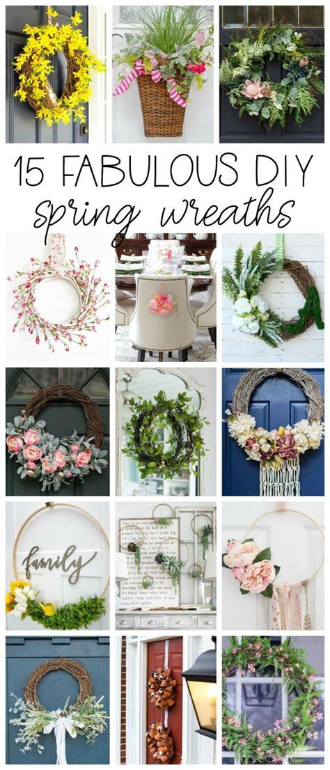 diy spring wreath ideas whimsical spring forsythia wreath just easy faux floral wreath diy tutorial setting for four