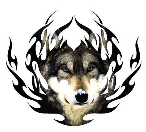 Tribal Fire Wolf Tattoo Design Best Tattoo Designs Best Tribal Tattoos Wolf
