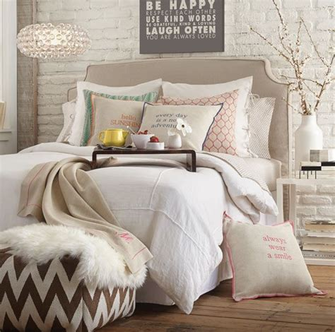 bedroom pouffe bedroom idea taupe and white everything mixed textures