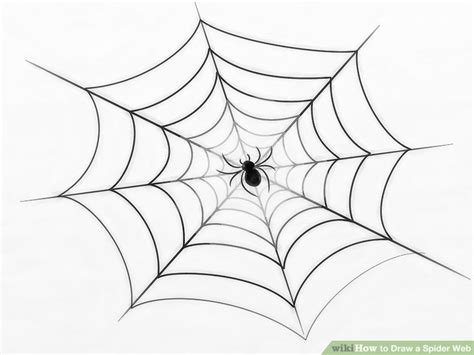 drawing web 3 ways to draw a spider web wikihow