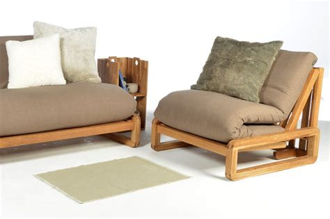 Solid Oak Futon by Single Seater Solid Oak Wooden Sofa Bed Futon Company