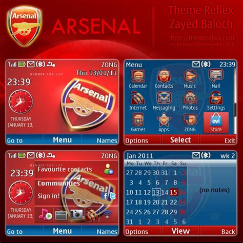 nokia themes reflex arsenal theme for nokia c3 x2 01 themereflex