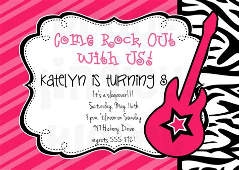 free printable rockstar birthday invitations rockstar invitation rockstar party rockstar birthday