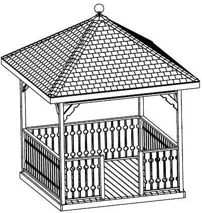 Hip Roof Pavilion Plans Gazebo Plans 12 Octagon Classic Design Cd Craft