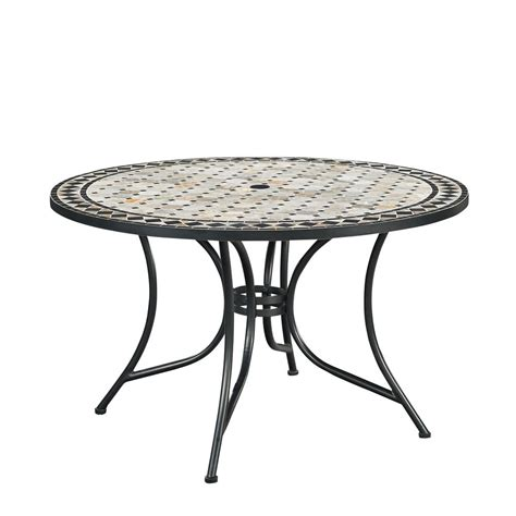 Home Depot Outdoor Dining Table Hton Bay Belcourt Metal Outdoor Dining Table D11334 Tr The Home Depot