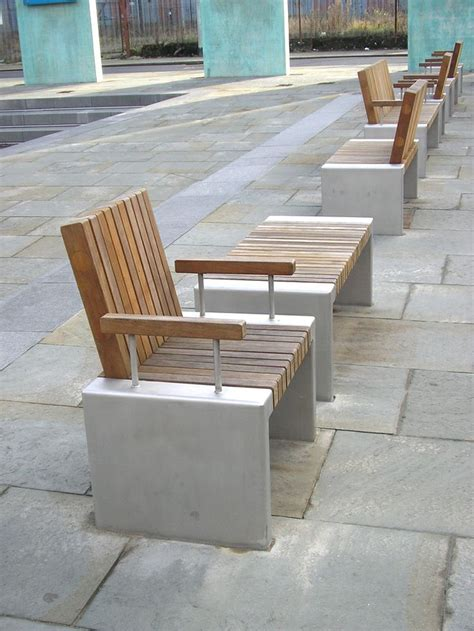Landscape Timber Outdoor Furniture Inline Seats Ancoats Manchester Woodscape Bespoke