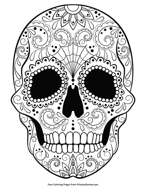 halloween coloring pages skull halloween coloring page sugar skull halloween coloring