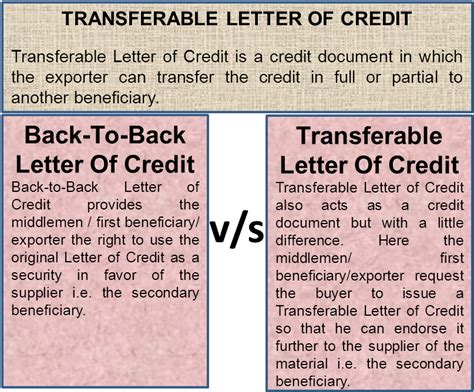 Transferable Letter Of Credit transferable letter of credit efinancemanagement