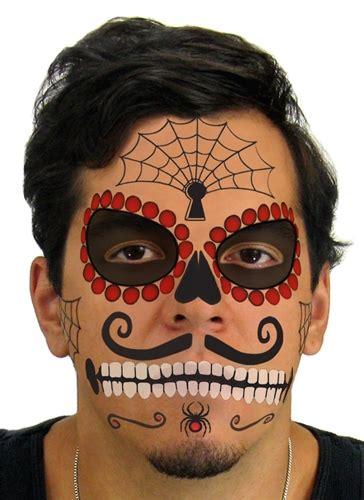 ruby sugar skull day   dead face tattoo kit