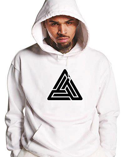 Pull N Shirt Brown black pyramid sweat 224 capuche blanc chris brown merch