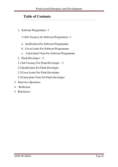 Flash Programmer Cover Letter by Professional Enterprise And Development Ibm