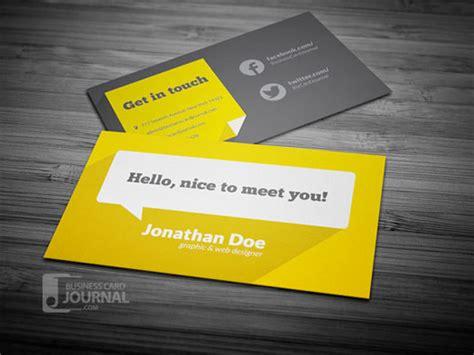 template kartu nama pribadi 10 desain template kartu nama gratis