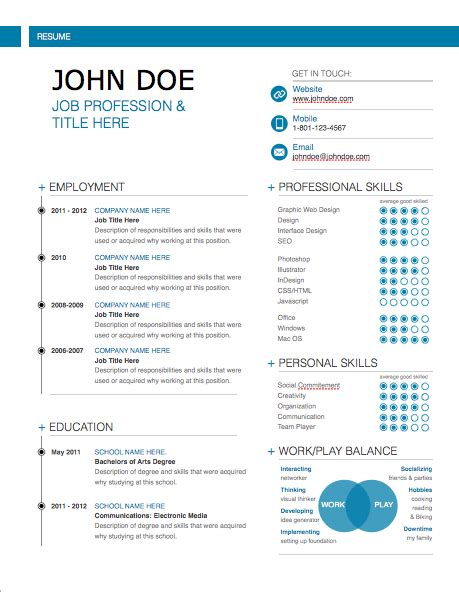 modern day resume templates modern resume template mactemplates