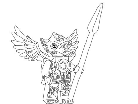 free coloring pages of lego chima