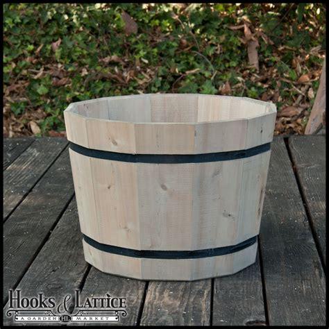 Half Wine Barrel Planter by 18 Quot Cedar Half Wine Barrel Planter