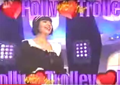 remember  holly willoughby wore racy maid outfit