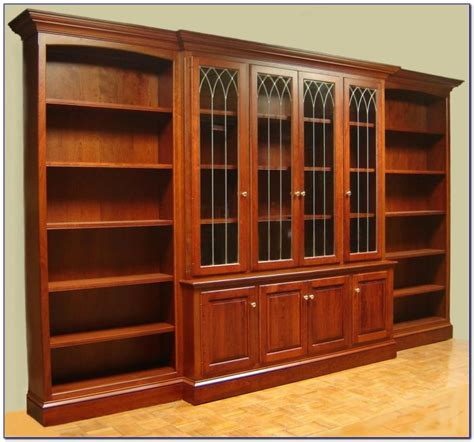 cherry bookcases with glass doors cherry wood bookcases uk bookcase home design ideas