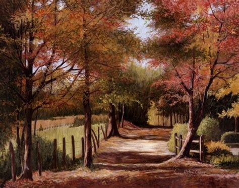 autumn country road fine art print  lene alston casey