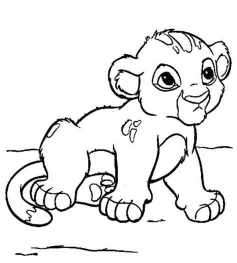 cute little simba coloring page download amp print online