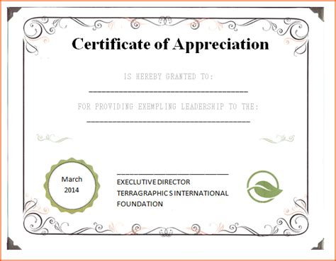 Free Printable Templates For Certificates Of Recognition by 4 Certificates Of Appreciation Templates Bookletemplate Org