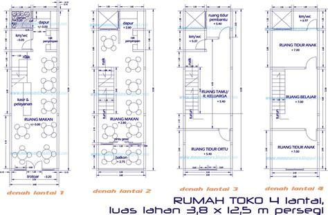 layout gambar toko desain rumah minimalis ukuran 8 x 16 by desain rumah