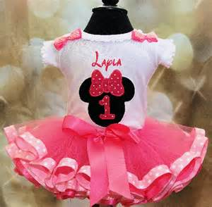 Minnie mouse first birthday outfit pink