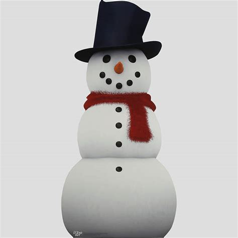 snowman life size stand out