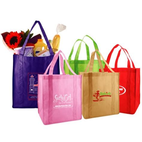 Promo Foldable Trolley Shopping Bag Motif Polkadot Tas Belanja reusable grocery bags non woven box and wrap