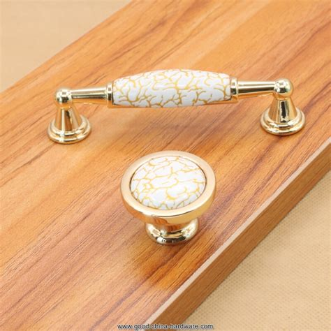 Hardware Handles Royal Gold Door Knob Handles Crackle Ceramic Knobs And