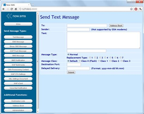 send text message nowsms