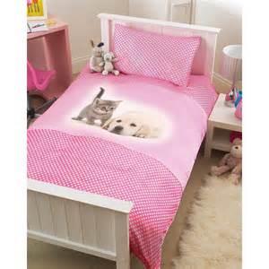 Puppy Duvet Set Kids Puppy Amp Kitten Single Size Bedding Duvet Cover