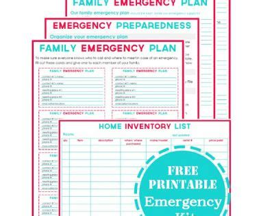 Printable Emergency Plan Template Family Emergency Everything And Emergency Preparedness Family Preparedness Plan Template