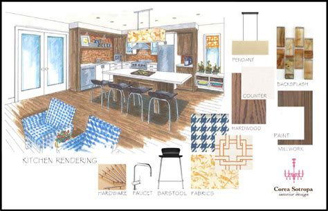 kitchen layout presentation presentation boards presentation and interior design