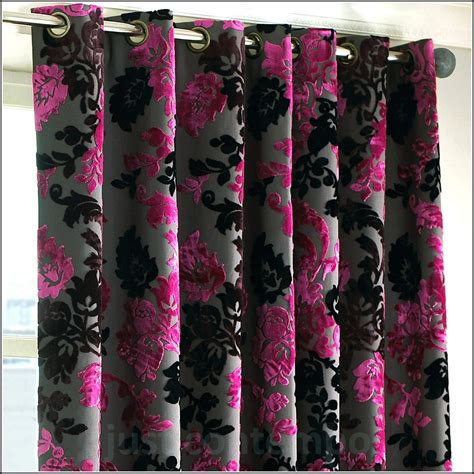black and fuchsia curtains pink and black curtains and bedding curtains home