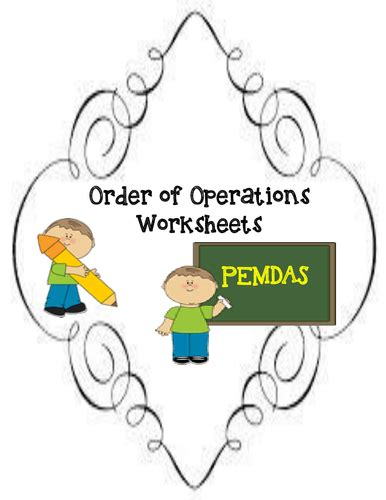 order of operations worksheets by moedonnelly teaching