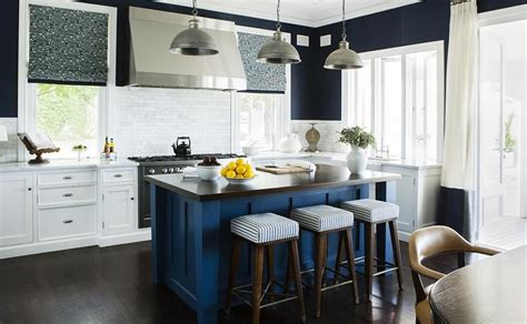 Blue Kitchen Island Galvanized Tub Sink Design Ideas