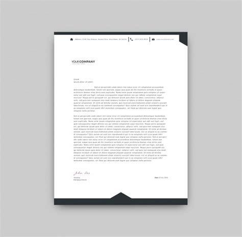Black And White Letterhead Template Vector Free Download Letter Template Black And White