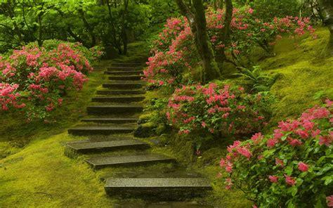 Japanese Garden Wallpapers Backgrounds Desktop Flower Garden In Japan