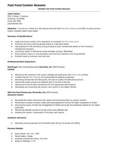 fast food resume objectives sle 1000 images about resume on resume exles resume and resume objective
