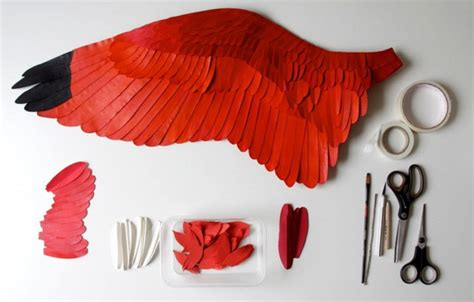 How To Make Bird Wings Out Of Paper - diana beltran herrera realistic paper birds feather of me
