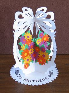 Pop Up Card Flower Basket Template by Paper Cuts On Paper Cutting Paper Sculptures