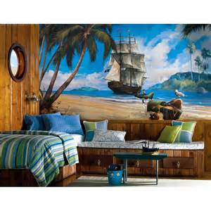 extra large pirates ship wall mural