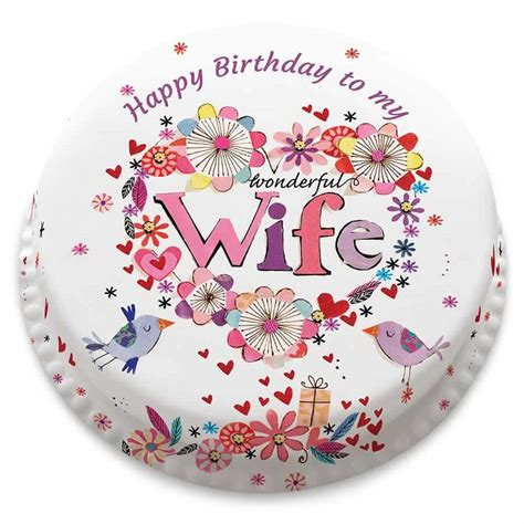 birthday cake greeting images  wife