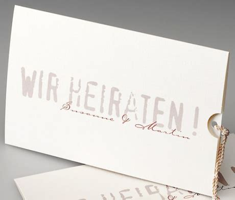 Hochzeitseinladung Zum Rausziehen by Frese Edeldesign Exklusive Hochzeitskarten Das